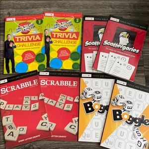 8 pack of puzzle activity books games travel NEW